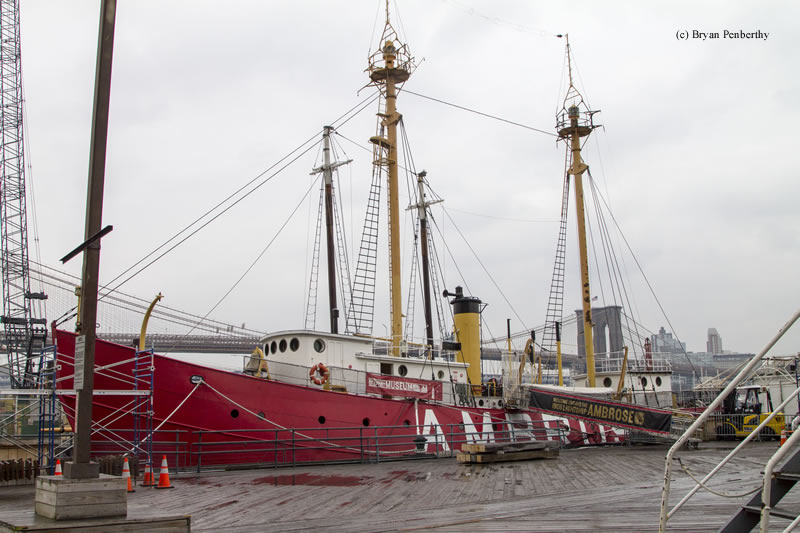 Photo of the Ambrose Lightship (LV-87/WAL-512).