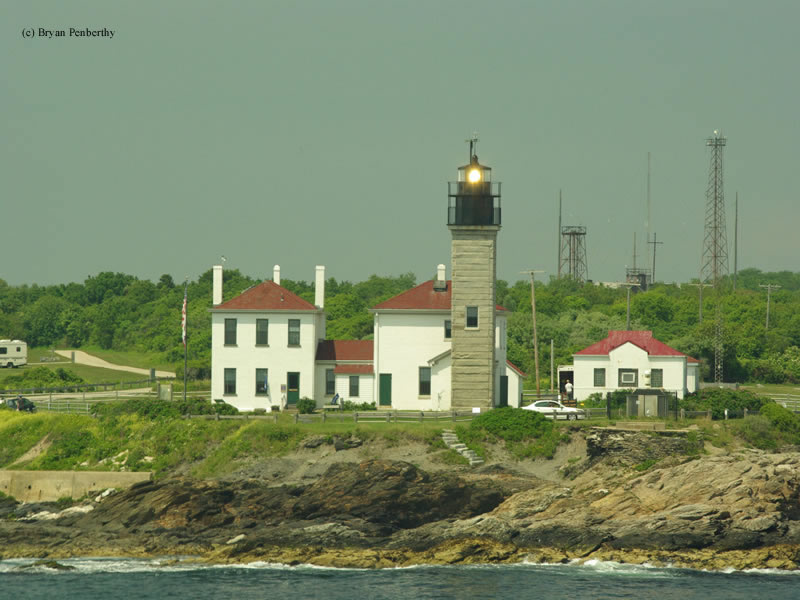 Photo of the Beavertail Lighthouse.