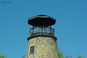 The top of the tower.