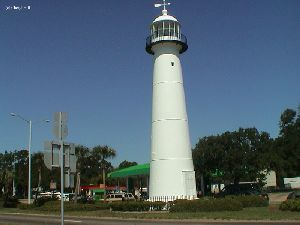 The lighthouse tower.