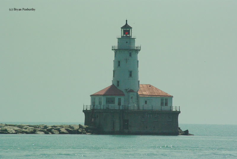 Photo of the Chicago Harbor Lighthouse.