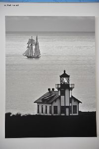 Photograph on the wall of the lighthouse taken in 1910.