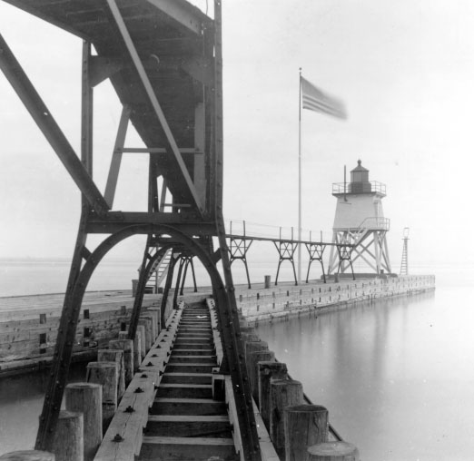 U.S. Coast Guard Archive Photo of the Algoma Rear Lighthouse