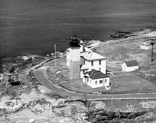 U.S. Coast Guard Archive Photo of the Beavertail Lighthouse