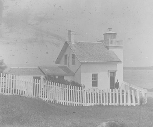 U.S. Coast Guard Archive Photo of the Bristol Ferry Lighthouse (1884)