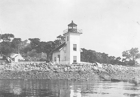 U.S. Coast Guard Archive Photo of the Bristol Ferry Lighthouse circa 1917