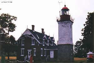 Dunkirk Lighthouse and quarters.