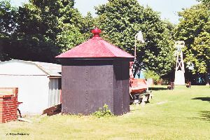 Oil house on the grounds.
