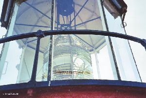 Close up of the third-order Fresnel lens.
