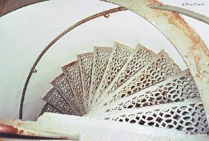 Stairs leading down from the tower.