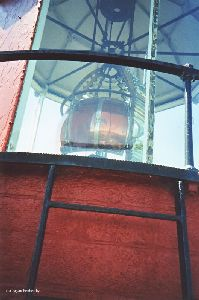 Backside of the Fresnel lens.
