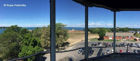 Panoramic view from the lantern of the Fort Niagara Lighthouse.