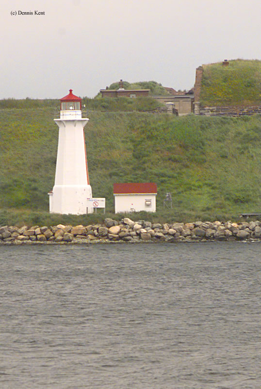 Photo of the Georges Island Lighthouse.