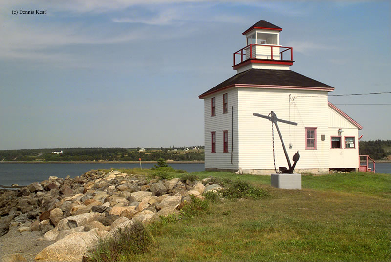 Photo of the Gilbert Cove Lighthouse.