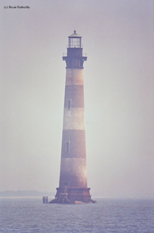 Photo of the Morris Island Lighthouse.