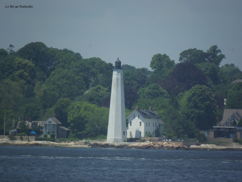Photo of the New London Harbor Lighthouse.