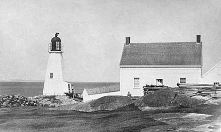 National Archives Photo of the 1801 Annisquam Lighthouse