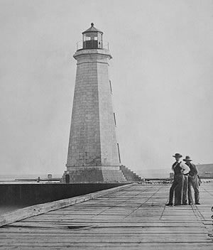 1837 Oswego Lighthouse (Courtesy National Archives)