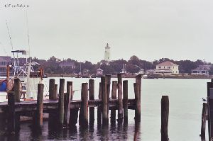 The lighthouse photographed from across Silver Lake.