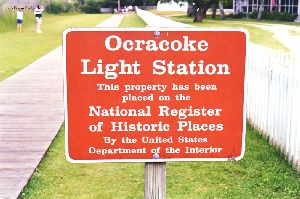 National Historic Register sign.