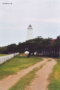 The lighthouse as viewed from down the driveway.