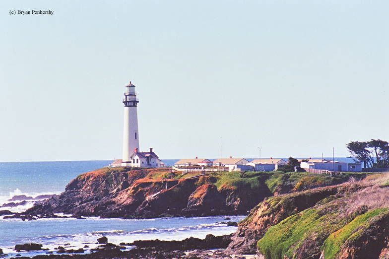 Photo of the Pigeon Point Lighthouse.