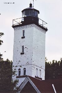Top half of the lighthouse.