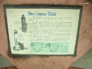 """Five Courses Thick"" sign."