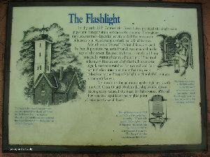 """The Flashlight"" sign."