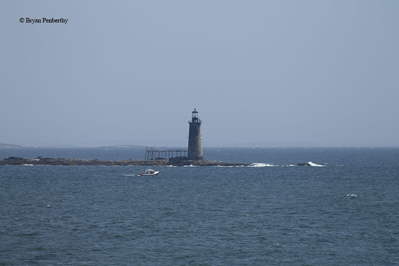 Photo of the Ram Island Ledge Lighthouse.