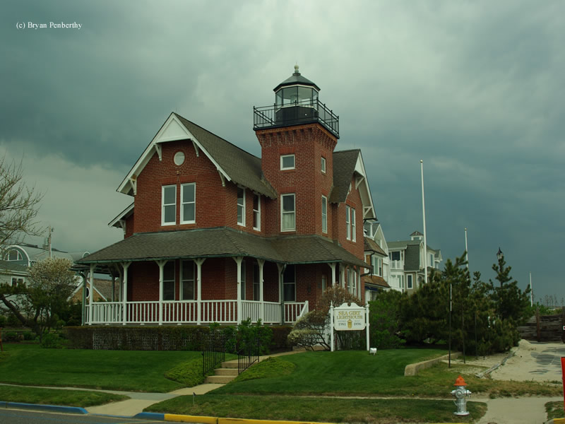 Photo of the Sea Girt Lighthouse.