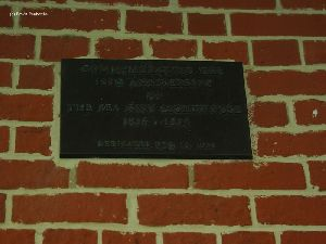 Plaque on the wall.