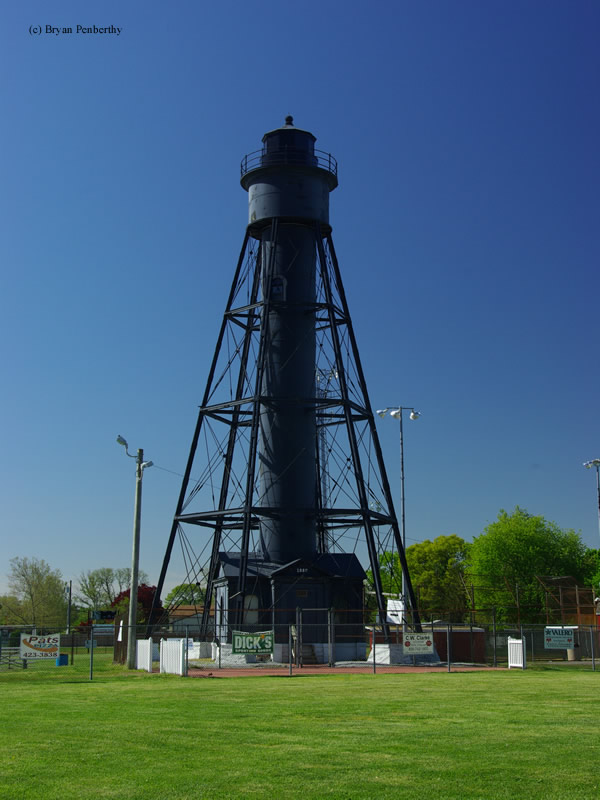 Photo of the Tinicum Rear Range Lighthouse.