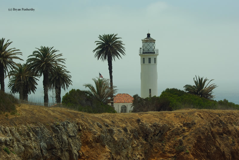 Photo of the Point Vicente Lighthouse.